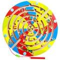 Labirinto de madeira alfanumérico magnético, Faixa a caligrafia do grânulo, o desenvolvimento da inteligência Infantil brinquedos educativos
