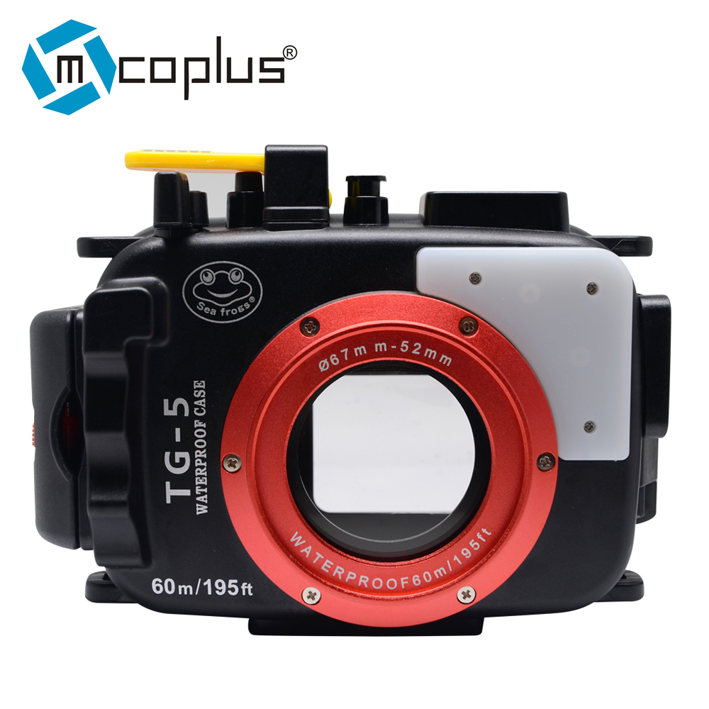 Mcoplus 40m/130ft TG5 Underwater Diving Waterproof Housing Camera Case for Olympus TG-5 mcoplus 40m 130ft ipx8 5 5 inch underwater waterproof photo housing diving protective case cover for iphone 6 plus black