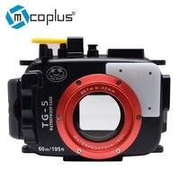 Mcoplus 40m/130ft TG5 Underwater Diving Waterproof Housing Camera Case for Olympus TG 5