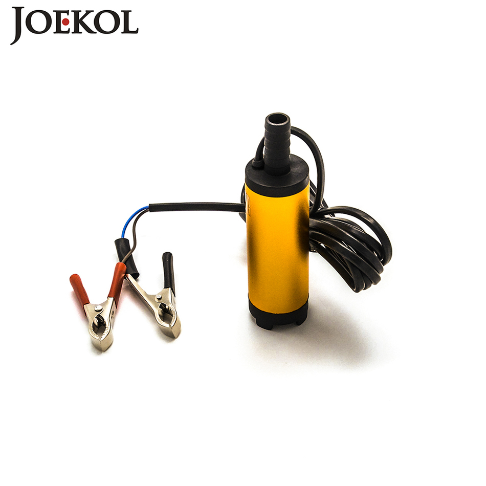 Free shipping Mini 12V/24V Electric fuel transfer pump,Aluminium alloy diesel oil pump,water suction Built in Filter screen