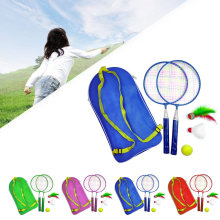 1 Set Outdoor Games With Shuttlecock Child Sport Educational Badminton Tennis Set Kid Baby Badminton Racket With Backpack(China)
