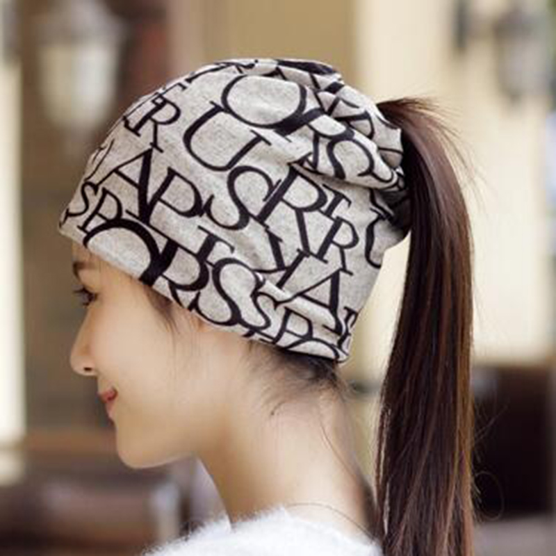 Hot Sale Soft Warm Cover Headgear Dual-Use Cap Winter Scarf Women Letter   Beanies     Skullies   Unisex Men Gifts Fashion Accessory