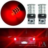 PA LED 2pcs X High Bright 55SMD 2835 5630 LED Brake Light RED Color 12V T20