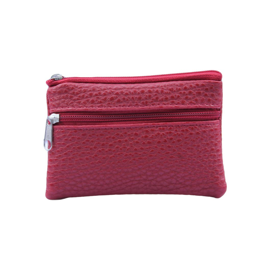 Fashion Women Men Coin Purse Leather Wallet Multi Functional Zipper LeatherCard WalletCarteira Feminina Gift