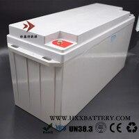 HXX 200A Inşa 12 V 150AH LiFePo4 Pil Paketi BMS Derin Döngüsü Güneş Kurulu RV Yat Enerji Depolama Güç bağlamak Ücretsiz Şarj 14.6
