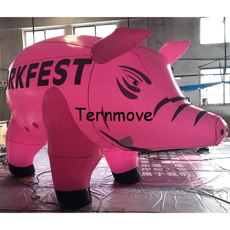 giant inflatable pig balloon PVC advertising Promotion Helium Balloone's floating custom large ground balloon ao058b 2m white pvc helium balioon inflatable sphere sky balloon for sale attractive inflatable funny helium printing air ball