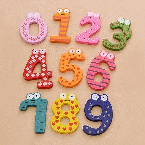 10 шт. милые деревянные магнит на холодильник номер 0-9 детская красочная развивающая игрушка набор