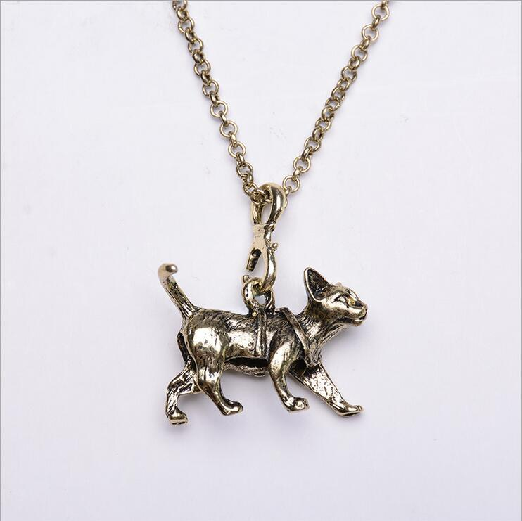 Collier Hot Sale Animal Fashion Sliver Plated 2016 New Design Simple Chain Bar Necklace Dog Charm Pendant Necklaces Women Gift