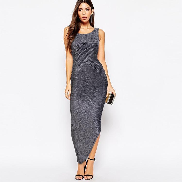 2018 Hot Sale Self cultivation Vintage Asymmetrical Evening Dress Criss cross Superior Taffeta font b Vestidos