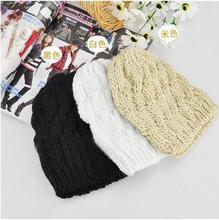 10 pieces/lot Brand New thick female cap Winter twist cap hat for women fashion warm beanie  wool knitted