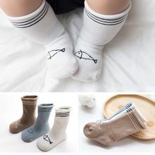 3 Pairs /lot newborn socks spring and autumn long socks cotton 0-1 year newborn socks baby high tube boneless 1-3 year цены онлайн
