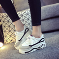 2017 new Harajuku white bottom platform shoes vivid shoes lady retro flat shoes Black white causal In with femal shoes 35-39 A02