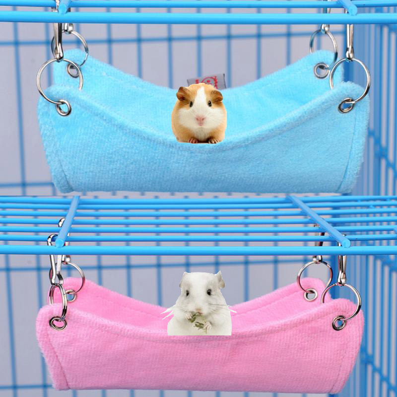Hammock Pet Hamster Rat Parrot Ferret Hamster Hanging Bed Cushion Hamster House Cage Accessories For Hamsters #xtn