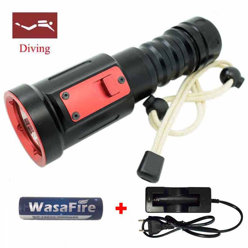 5000 LM XML-L2 LED Diving Flashlight LED Diving Torch Lantern Waterproof 100m Diver Flash Light Lamp By 18650 Battery or 26650 boruit 10000lm underwater 200m flashlight 5 xml l2 led scuba diving flash light torch lantern 18650 or 26650 battery