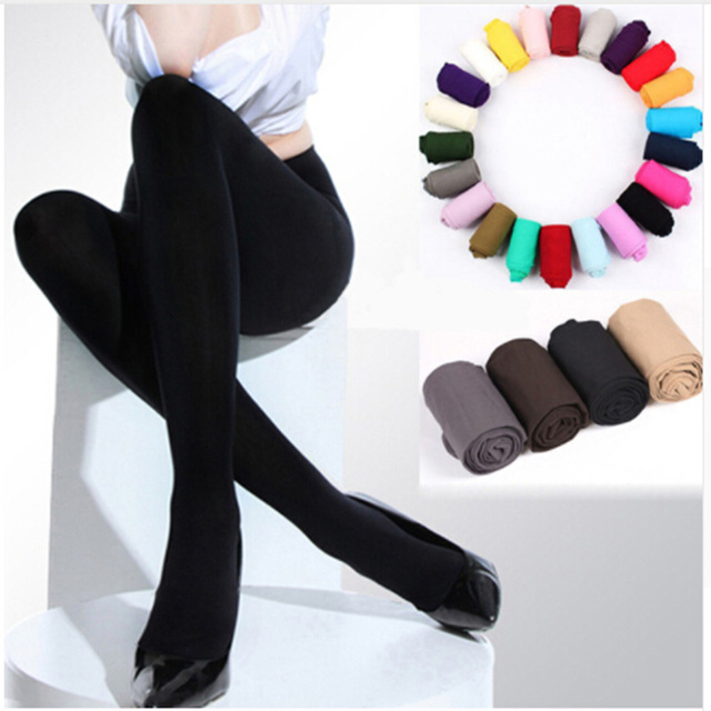 29913b4ca 1 PC Sexy Women Stocking Beauty Girl 120D Thick Stockings Pantyhose Opaque  Footed Tights Sexy Pantyhose 2018 Spring Hot Sale