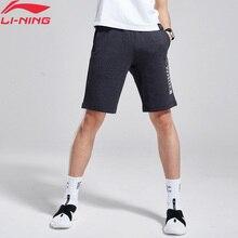 Распродажа) Li-Ning мужские баскетбольные шорты с карманами, 87% хлопок, 13% полиэстер, удобные спортивные шорты AKSN271 MKD1569