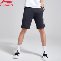Li Ning Men Wade Basketball Shorts Pockets 87% Cotton 13% Polyester Printing LiNing Comfort Sports Shorts AKSN271 MKD1569