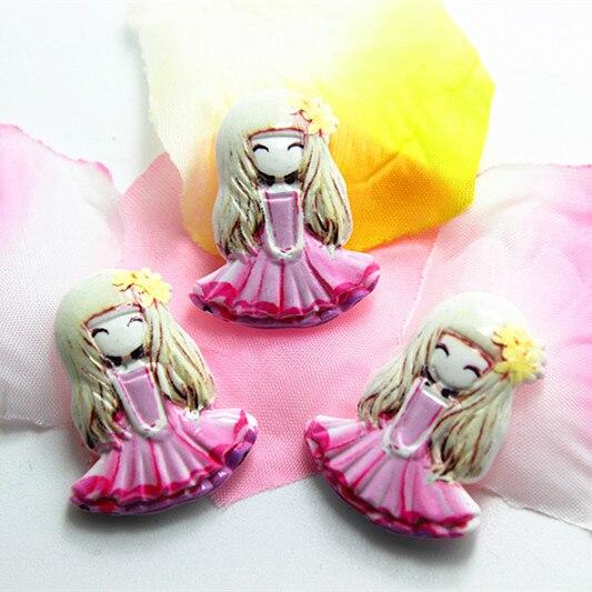 10 шт./лот очень каваи смолы для девочек розовая юбка плоской задней кабошон для DIY Craft Скрапбукинг, 23*29 мм, rc11082d