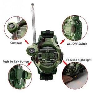Image 5 - 7 in 1 Spielzeug Walkie Talkie Uhr Kompass 150 M Sprechen Bereich Kinder Armbanduhr Radio Camouflage Stil Elektronische Spielzeug für Kinder