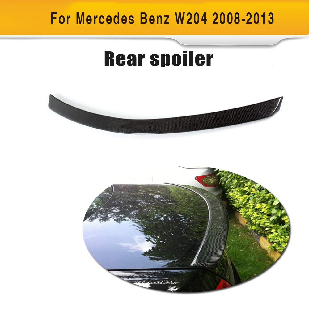 Carbon Fiber rear trunk lip boot spoiler wing For Benz w204 C300 C350 C230 C250 C63 AMG A Style