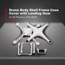 цена на Drone Body Shell Frame Case Cover with Landing Gear for DJI Phantom 3 Professional Advanced Standard Quadcopter Spare Parts