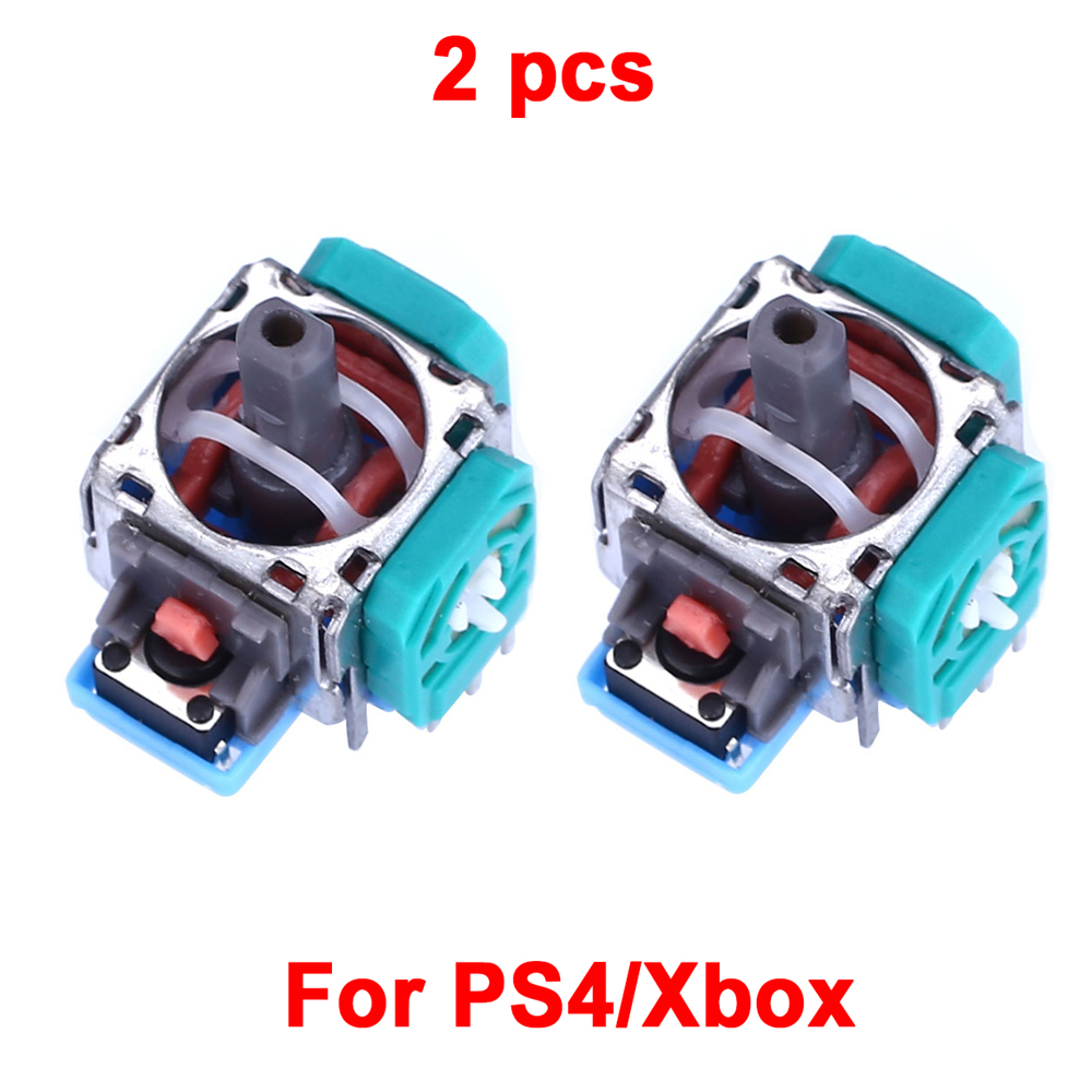 2 Controller Replacement  3D Analog Stick Sensor Module Thumb Stick For PS4 Gamepad Dualshock 4 Xbox Repair Wireless Controller