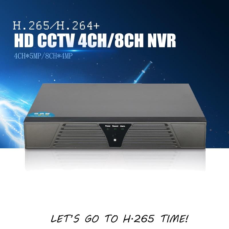 YiiSPO 4CH 5MP/8CH 4MP CCTV NVR H.265 Sicherheit Netzwerk Video Recorder Home Überwachung 4 karat NVR Unterstützung H265 /264 IP CCTV Kamera