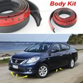 Car Bumper Lip Deflector Lips For Nissan Almera / Tino / Front Spoiler Skirt For Auto to Car Tuning View / Body Kit / Strip