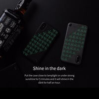 For IPhone X NILLKIN NEW Leather Case Luminous Mobile Case TPU Back Cover Ultra Thin Phone