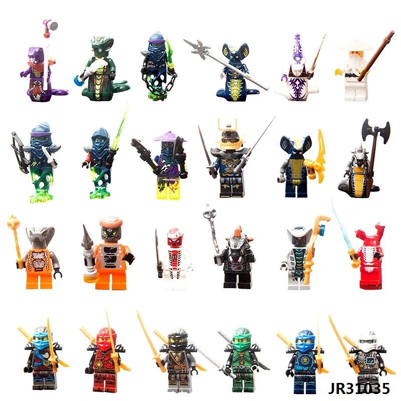 2017 NEW Hot 24PCS Compatible LegoINGlys NinjagoINGlys Set Kai Jay Cole Zane Nya Lloyd Weapons NINJA Figure Blocks Toys