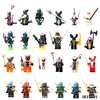 2017 NEW Hot 24PCS Compatible LegoINGlys NinjagoINGlys Set Kai Jay Cole Zane Nya Lloyd Weapons NINJA