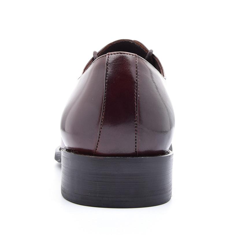 88d1ca85e 2 De Moda Vestido Qualidade Sheos Dos Genuíno 1 Elegante Couro Trabalho Escritório  Homens Simples Sapatos E Negócios Vaca Homem Casamento qHwxBw1Yd