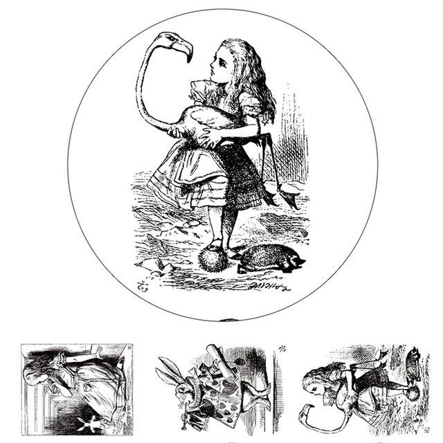 Alideco васи ленты Alice Животные клейкие ленты украшения Скрапбукинг DIY Бумага японский Наклейки Размер 4 см * 10 м