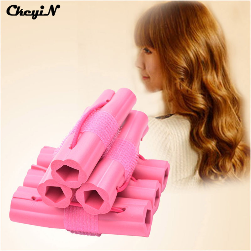 Inkint Tech Store 2015 Hot 6pcs Magic Hair Curler Fashion Sponge Hair Roller Hair Styling DIY plastic hair rollers HS41 47 Z