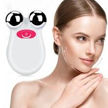 Mini microcurrent face lift máquina multifunções beleza dispositivo pele aperto facial rugas cravo removedor de cuidados com a pele ferramentas