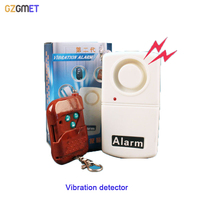 High Sensitive Remote Control Earthquake Quake Door Motorcycle Anti Theif Alarms Vibration Detector With LED Indicator