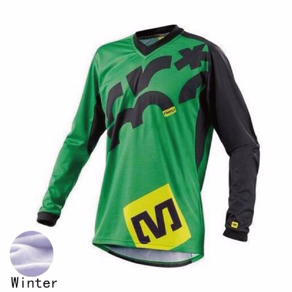 2018 new Thermal Fleece Jersey cycling Winter Motorcycle Motocross Racing Riding Cycling Jersey long T-shirt XXS TO 5XL