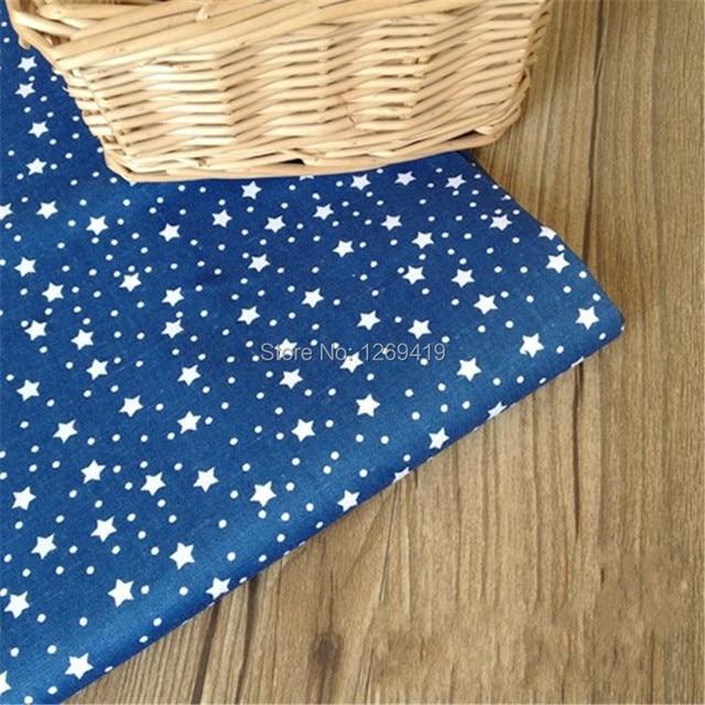 160*50CM Navy Blue Aom & Kong Print Cotton Fabric Telda DIY Tissue Patchwork Telas Sewing Baby Toy Quilt Bedding Textile Tecido