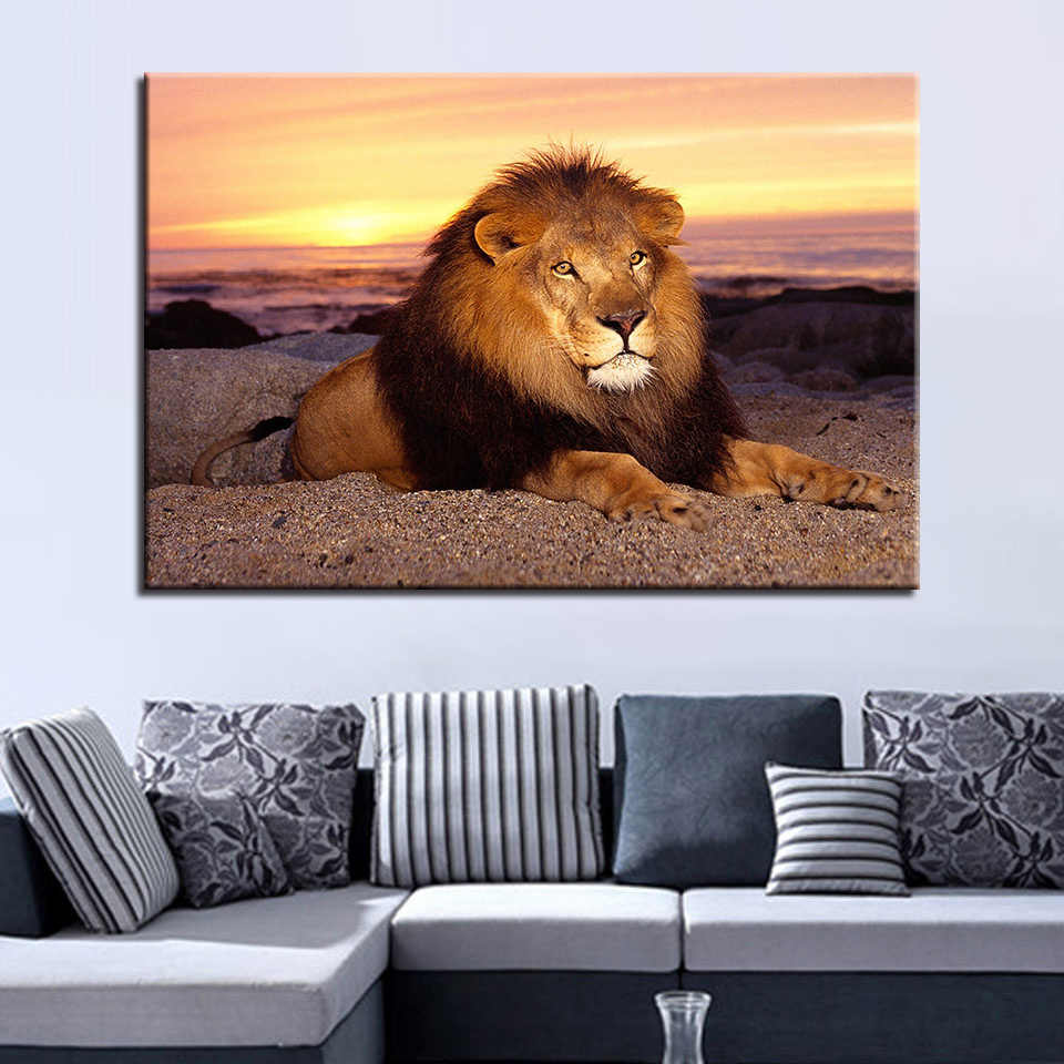 Canvas Painting Wall Art HD Prints 1 Pieces Animal Lion Home Decoration Modular Hot Sale Pictures Creative Frame Artwork Poster