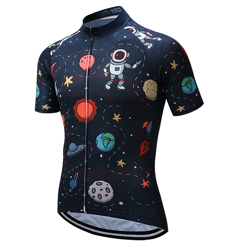 2018 Space Robots Bike Jerseys Ropa Ciclismo Sportwears Pro Team Cycling Jerseys Short Sleeve Bicycle Shirts 2017 new pro team cycling jerseys bike clothing ropa ciclismo breathable short sleeve 100