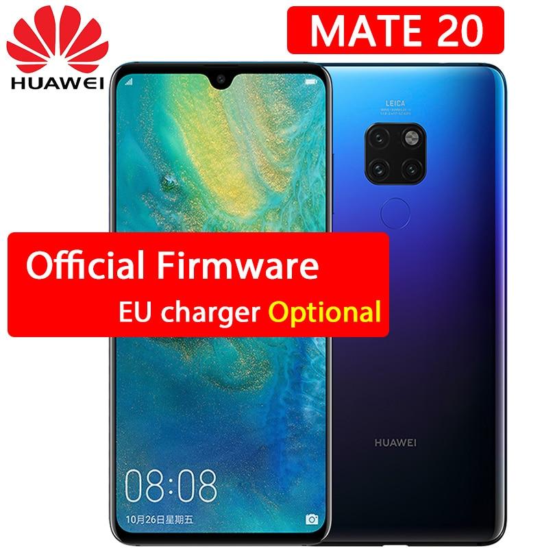Huawei Mate 20 cellphone 6 53 inch 2244X1080P Full Screen Kirin 980 Octa Core Android 9