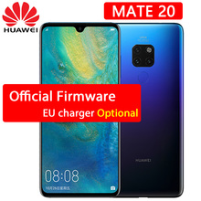 Huawei Mate 20 cep telefonu 6.53 inç 2244X1080 P Tam Ekran Kirin 980 Octa Çekirdek Android 9 NFC 24MP 3 geri Leica Kameralar