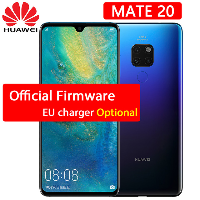 Huawei Mate 20 cellphone 6.53 inch 2244X1080P Full Screen Kirin 980 Octa Core Android 9 NFC 24MP 3 Back Leica Cameras