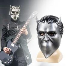 """Ghost לפנה""""ס להקת רול רוק קוספליי מסכת חסר שם ר תלבושות אבזרי קסדת רפאים למבוגרים B.C."""