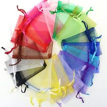 50Pcs 7x9 cm Christmas Gift Bag Sachet Organza Bags Jewelery Pouches Wedding Party Decoration Drawable Bags Gift Packaging