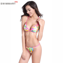 2017 New Hot Design Print Style Simple Model Brazilian Sexy Printing Swimsuit Bikinis Push Up Padded