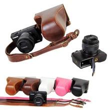 Новые роскошные Камера сумка для Canon EOS M10 EOSM10 из искусственной кожи Камера сумка с ремешком открытым дизайн аккумулятора