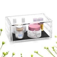 Vazio maquiagem gaveta organizador de jóias De Armazenamento caixa de titular de cosméticos Acrílico Organizador Cosmetic Makeup jóias recipiente C198-3