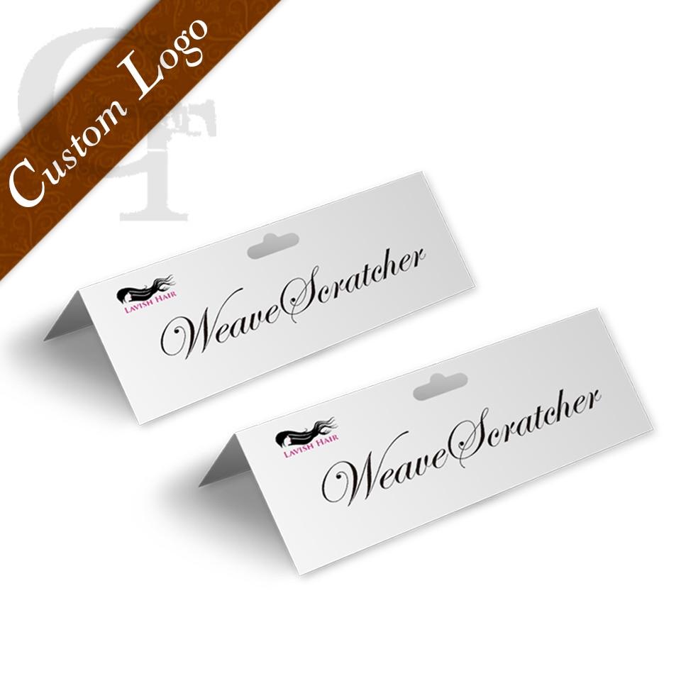 Custom Logo Brand Name Virgin Hair Extension Cardboard Labels