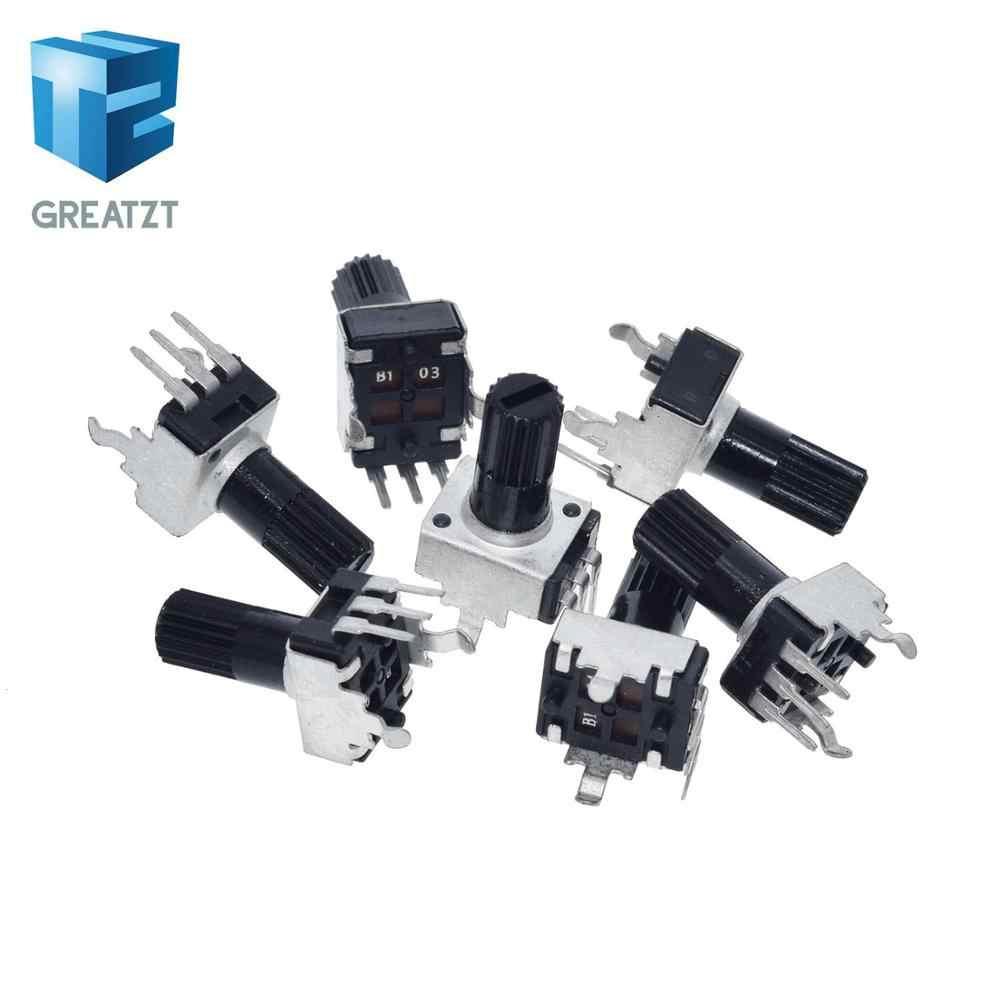 RV0932 1K 5K 10K 50K 100K Ohm Potentiometer Handle Round Shaft RV09 Trimmer Pot